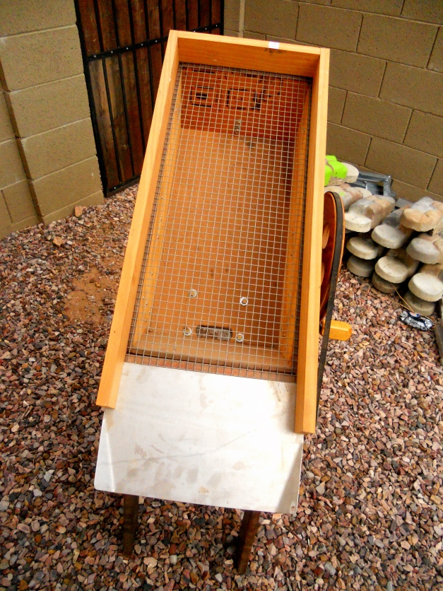 Top of the Dry Washer, the Hopper With Screen