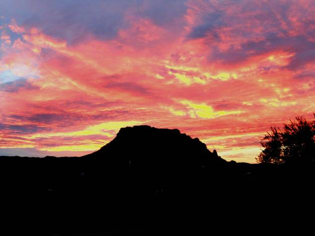 Sunset in Superior, Arizona