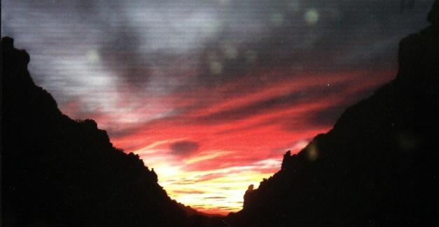 orange sunset n cliff
